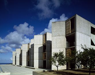Salk Institute for Biological Studies - Salk Institute from interior courtyard