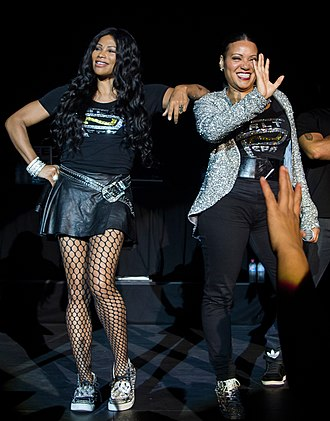 Salt-N-Pepa - Salt-N-Pepa performing at the Canberra Theatre in Australia, 2013.
