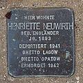 Salzburg - Altstadt - Arenbergstraße 33 - Stolperstein Henriette Neuwirth.jpg