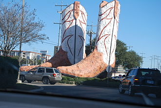 North Star Mall - North Star Mall entrance, with iconic Boots sculpture