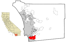 San Diego County California Incorporated and Unincorporated areas Chula Vista Highlighted.svg