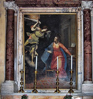 "Sant'Eustachio - ""The Annunciation"" by Ottavio Lioni"