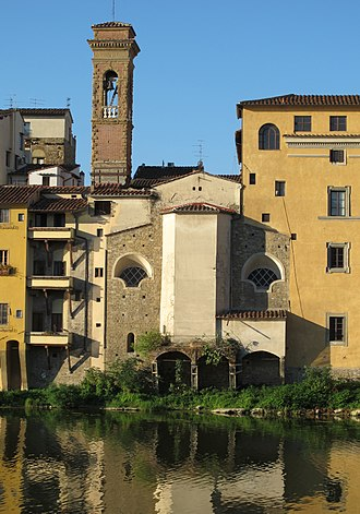 San Jacopo sopr'Arno - View of the church from the Arno River.