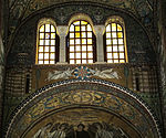 San vitale, ravenna, int., presbiterio, mosaici dell'arcone 01.JPG