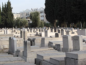 Sanhedria Cemetery - Partial view of Sanhedria Cemetery, with Shmuel HaNavi neighborhood in background.