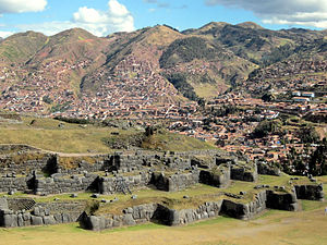 Cusco Province - The archaeological site of Saksaywaman near Cusco