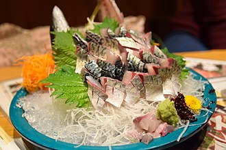 Sashimi - A dish of Fish Sashimi