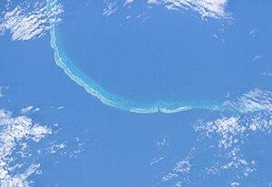 Saumarez Reefs - Satellite view of Saumarez Reefs