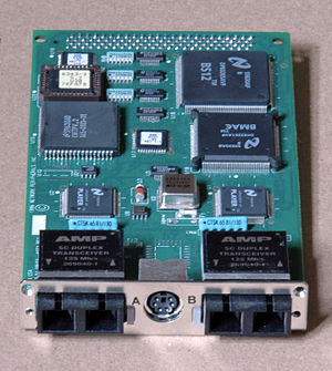 Fiber Distributed Data Interface - Dual-attach FDDI board