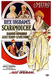 <i>Scaramouche</i> (1923 film) 1923 film by Rex Ingram