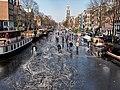 Schaatsen op de Prinsengracht in Amsterdam foto15.jpg