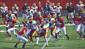 Schaumburg High School - The Schaumburg HS Football team take on Mid-Suburban League rivals Barrington in 2014.