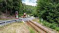 """Schwarzburg Gleis - Bestandteil der Sachgesamtheit """"Eisenbahnstrecke Oberweißbacher Berg- und Schwarzatalbahn"""".jpg"""