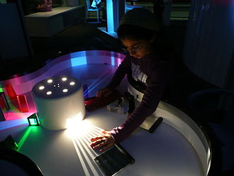 Science museum - Interactive exhibit at the Science Museum London