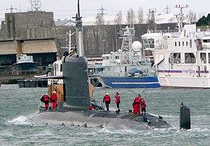 Submarine Altantuya classe Scorpene durant ses...