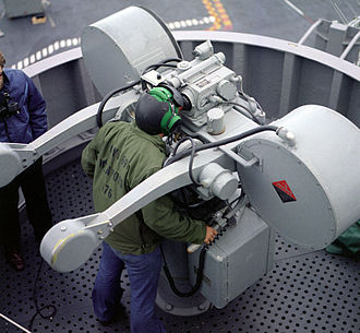 RIM-7 Sea Sparrow - Mark 115 manned director, initially used to guide a Sea Sparrow to its target as a part of BPDMS.