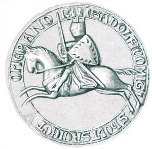 Adolph V, Count of Holstein-Segeberg - Seal of Adolf V from around 1273