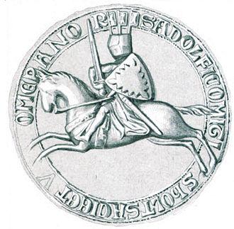 Adolph V, Count of Holstein-Segeberg - Seal of Adolf V from around 1273