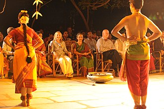 Kalakshetra Foundation - Bharatanatyam performance at Kalakshetra, during visit of Hillary Clinton, 2011
