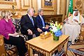 Secretary Kerry, Ambassador Westphal, and Assistant Secretary Patterson Sit With King Salman of Saudi Arabia Before Bilateral Meeting in Riyadh.jpg