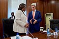 Secretary Kerry Chats With Assistant Secretary Linda Thomas- Greenfield at the Presidential Villa in Abuja (28562898663).jpg