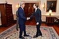 Secretary Kerry Greets Austrian Foreign Minister Sebastian Kurz Before Their Meeting in Washington (25629561704).jpg