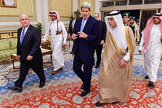 Adel al-Jubeir - With John Kerry, United States Secretary of State, in Riyadh on October 24, 2015