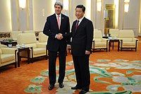 Secretary Kerry and Chinese President Xi Pose for Photographers (12517501234).jpg