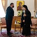 Secretary Pompeo Meets with Ecumenical Patriarch Bartholomew I (50618393132).jpg
