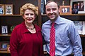 Senator Stabenow meets a Wayne State Law student interning in Washington, D.C. (27572434542).jpg