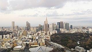 Sendagaya Area in Tokyo, Japan