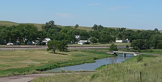 Seneca, Nebraska - Seneca seen from the southeast, across the Middle Loup River