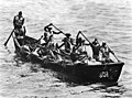 Senegalese rowing boat off Dakar, Senegal, in 1960.jpg