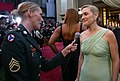 Sergeant interviews Kate Winslet on the red carpet at the Kodak Theatre in 2007.jpg