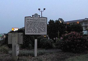 Sevierville, Tennessee - Tennessee Historical Commission sign marking the site of the McMahan Indian Mound, 1200-1500 A.D.