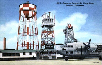 Sewart Air Force Base - Sewart Air Force Base postcard from about 1950