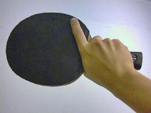 Table tennis racket - Image: Shakehand 2