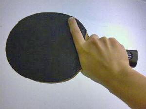 Table tennis racket - Image: Shakehand 2