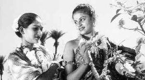 Sakuntalai -  K. Thavamani Devi and M. S. Subbulakshmi in Sakuntalai