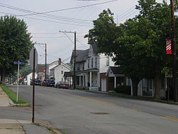 Shanksville's Main Street in July 2006