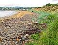 Shingle beach with sandy beach beyond at Inver Bay - geograph.org.uk - 851004.jpg