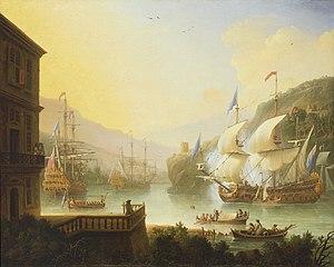 Jan Karel Donatus van Beecq - Shipping in an Estuary