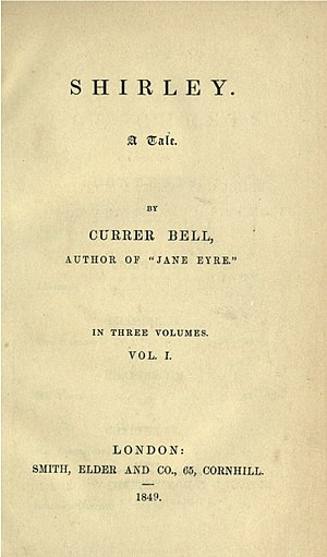Shirley (novel) - First edition title page
