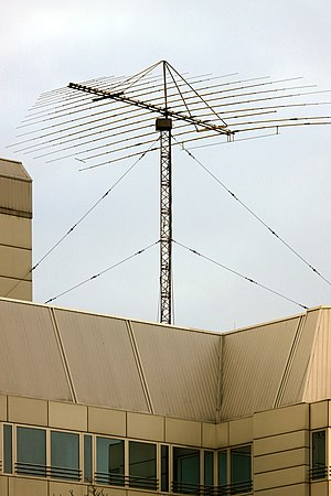 Fixed service - HF aerial on roof of the Chinese embassy in Berlin