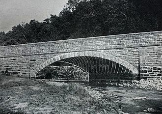 Skew arch - A masonry skew arch bridge photographed shortly after its completion in 1898, showing the helicoidal nature of its stonework
