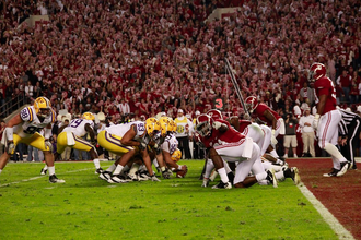 Alabama–LSU football rivalry - Sideline picture of Alabama vs LSU on November 5th 2011