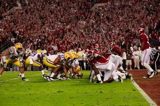 Alabama–LSU football rivalry - Sideline picture of Alabama vs LSU on November 5th 2011
