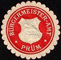 Siegelmarke Bürgermeister - Amt - Prüm W0232714.jpg