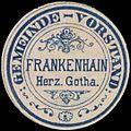 Siegelmarke Gemeinde-Vorstand Frankenhain Herz. Gotha W0364964.jpg