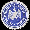 Siegelmarke K.Pr. Stellvert. 15. Infanterie-Brigade W0383320.jpg